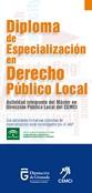 Diploma de especialización en derecho público local