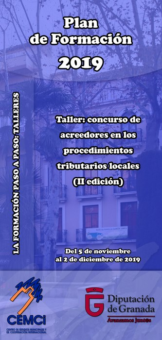 Taller: Concurso de acreedores en los procedimientos tributarios locales (II edición).