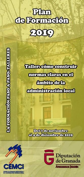 Taller: Cómo construir normas claras en el ámbito de la administración local.