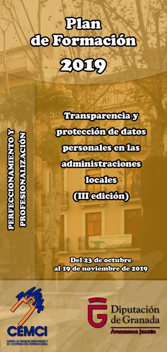 CMES: Transparencia y protección de datos personales en las administraciones locales (III edición).