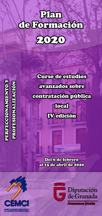 Curso: Curso de estudios avanzados sobre contratación pública local (IV edición).