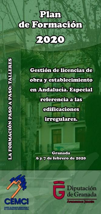 Taller: Gestión de licencias de obra y establecimiento en Andalucía. Especial referencia a las edificaciones irregulares.