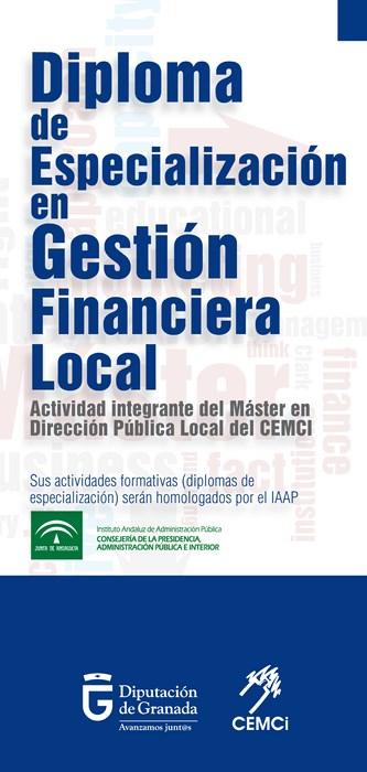 Diploma de especialización en gestión financiera local (III edición).
