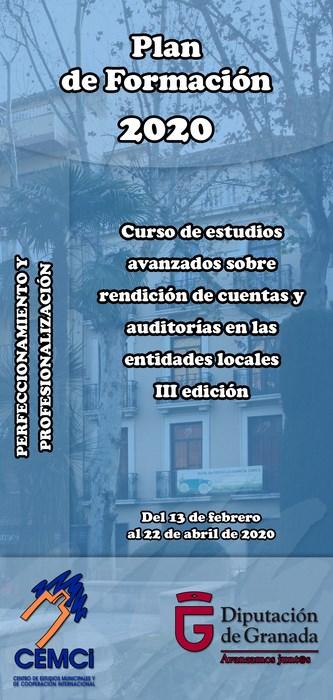Curso: Curso de estudios avanzados sobre rendición de cuentas y auditorías en las entidades locales (III edición)