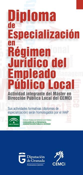 Diploma de especialización en régimen jurídico del empleado público local (III edición).