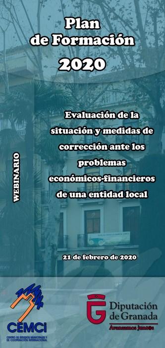 Webinario local: Evaluación de la situación y medidas de corrección ante los problemas económico-financieros de una entidad local.