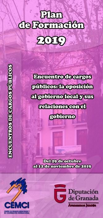 Encuentros de cargos públicos: La oposición al gobierno local y sus relaciones con el gobierno (III edición).
